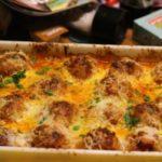 Asiago Meatball Parmigiana with Garlic Roasted Broccoli