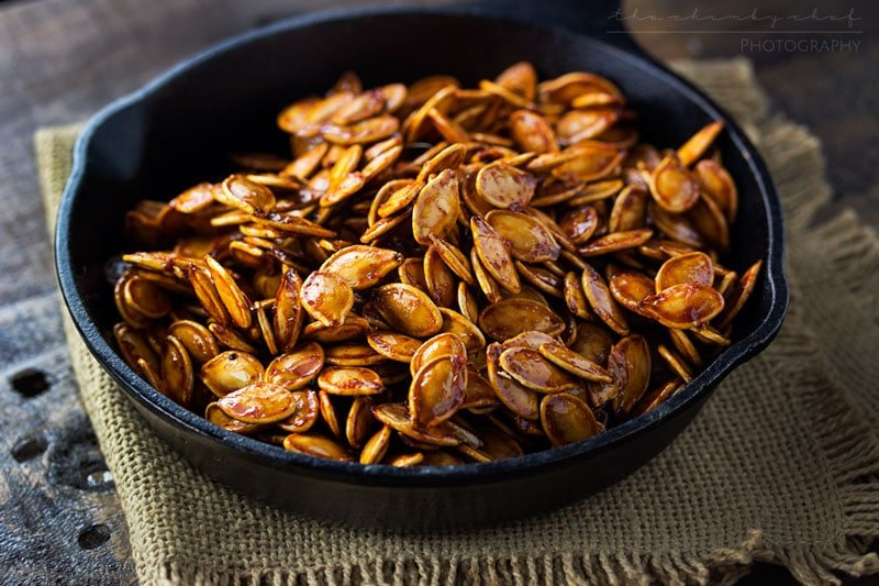 Spiced Honey Roasted Pumpkin Seeds | Pumpkin Seed Recipes For A Delightful Fall Snack