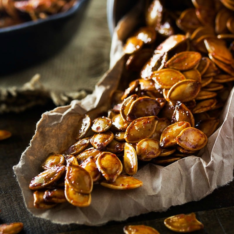 Spiced Honey Roasted Pumpkin Seeds