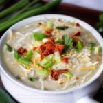 Cheesy Poblano Pepper and Potato Chowder
