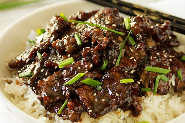 30 Minute Mongolian Beef with Coconut Rice