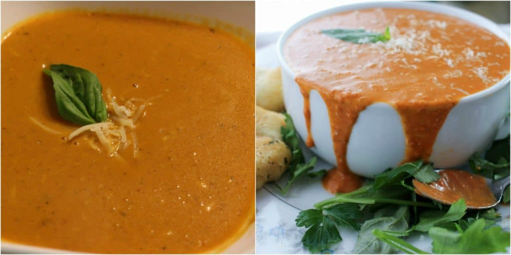 Slow Cooker Creamy Tomato Basil Soup