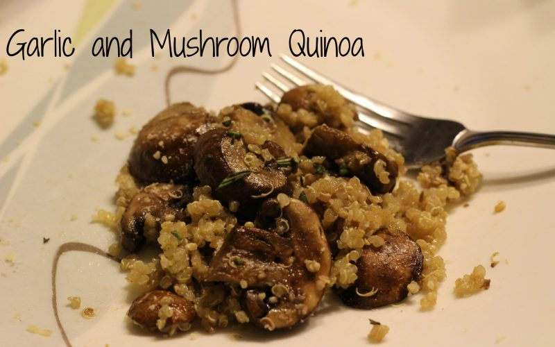 Garlic and Mushroom Quinoa