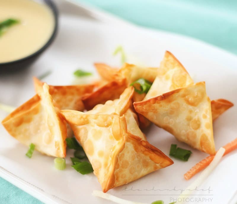 Crab Rangoons   The Chunky Chef   Like your favorite Chinese takeout appetizer... but WAY better!! These crab rangoons are simple to make and taste so good, the whole family will enjoy them!