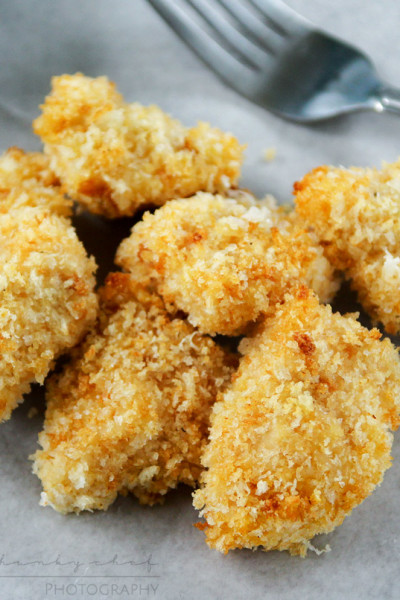Parmesan Crusted Chicken Nuggets with 3 Homemade Dipping Sauces
