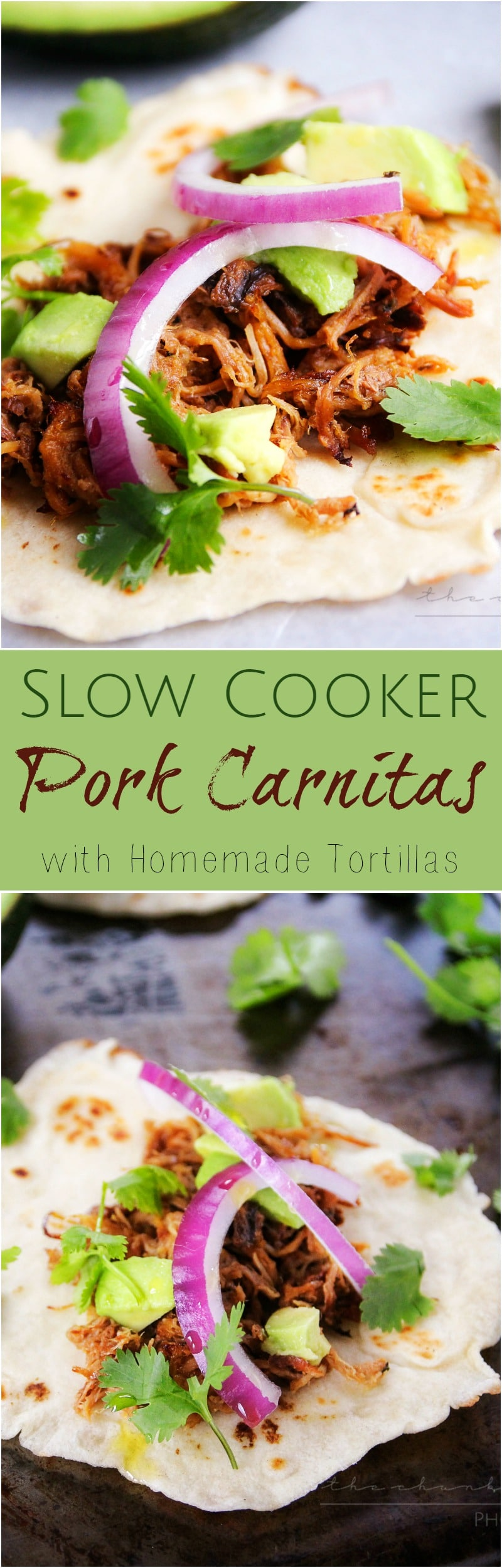 Slow Cooker Pork Carnitas   The Chunky Chef   The amazing combination of spices and citrus make these slow cooker pork carnitas an absolute must try recipe!