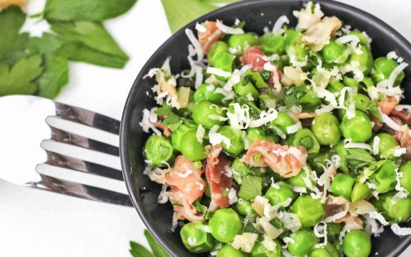 Peas with Shallots and Prosciutto