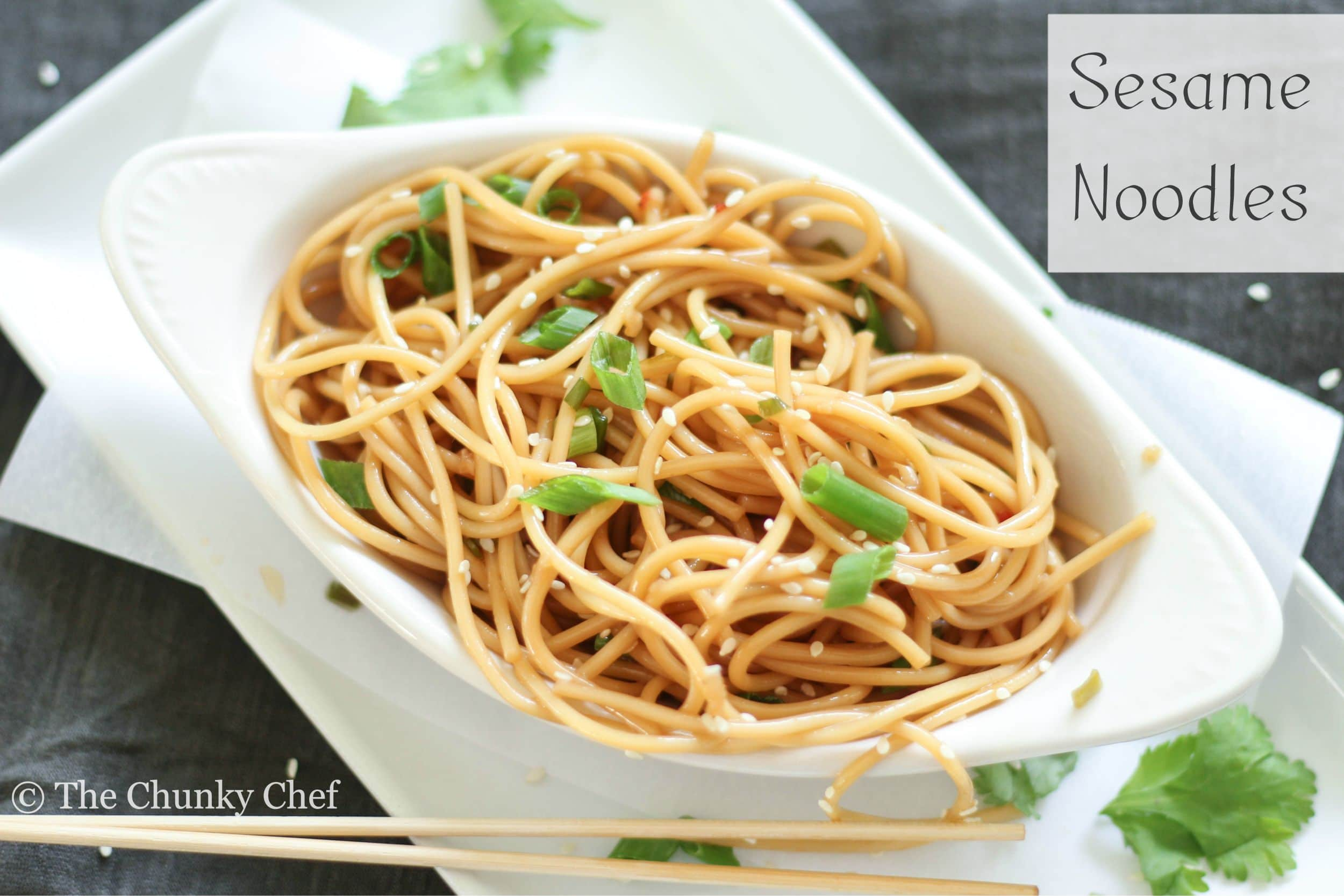 Sesame Noodles Recipe — Dishmaps