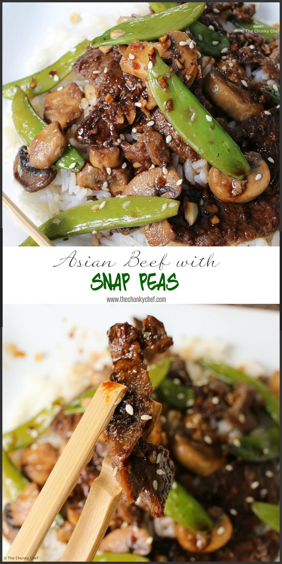 Deliciously savory and easy to make... try this Asian Beef with Sugar Snap Peas tonight!