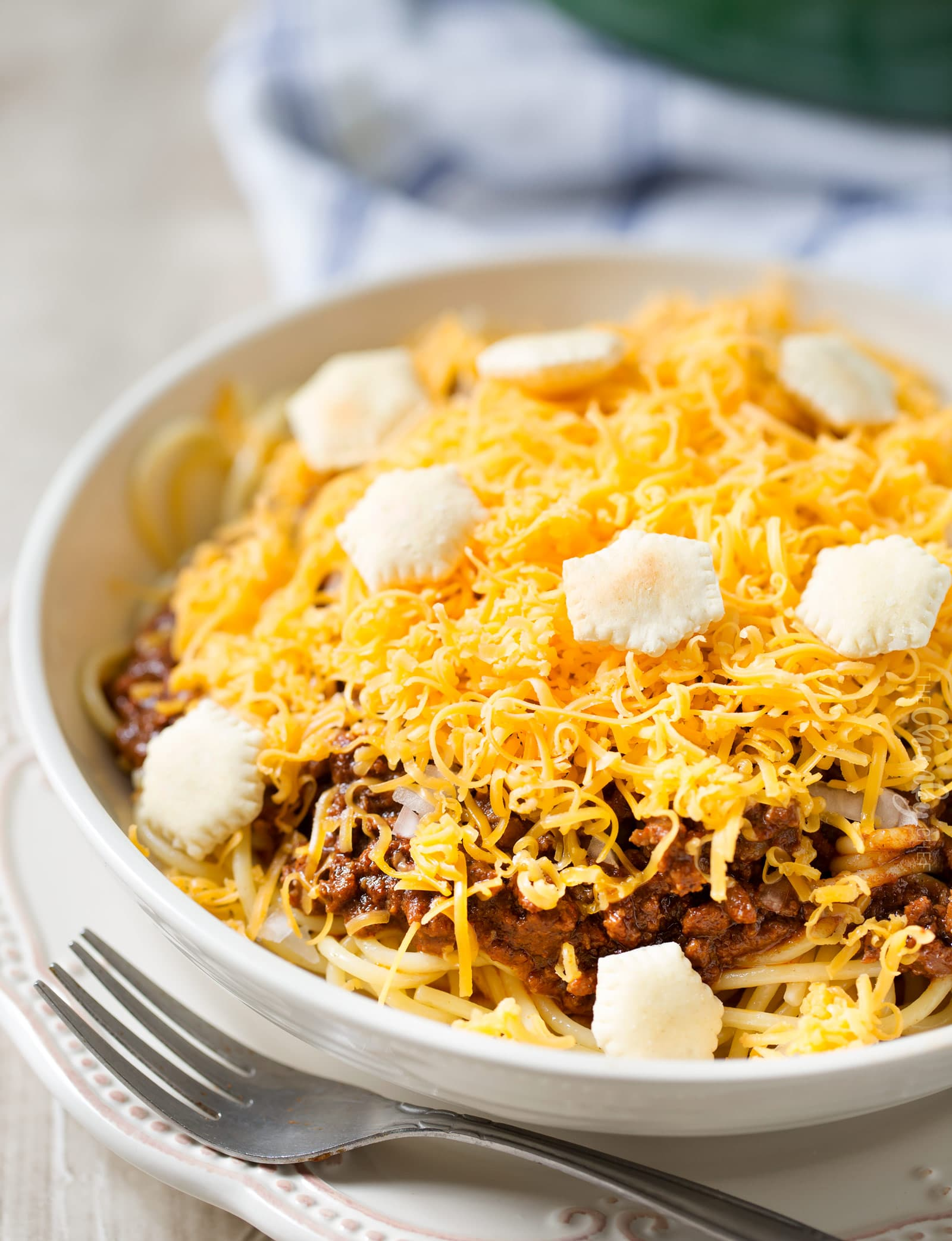 Classic Skyline chili recipe three way with oyster crackers