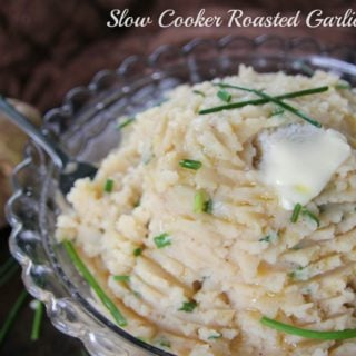 These mashed potatoes are insanely good! Having them cook in the slow cooker all day really develops the flavor, plus makes it easier on you!