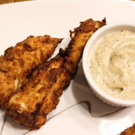 Crunchy, juicy, tender fried chicken strips... restaurant quality, but made in your own kitchen