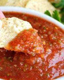 "Bright and fresh, this salsa is the best you've ever tasted! So easy to make and it's sure to ""wow"" anyone you make it for!"