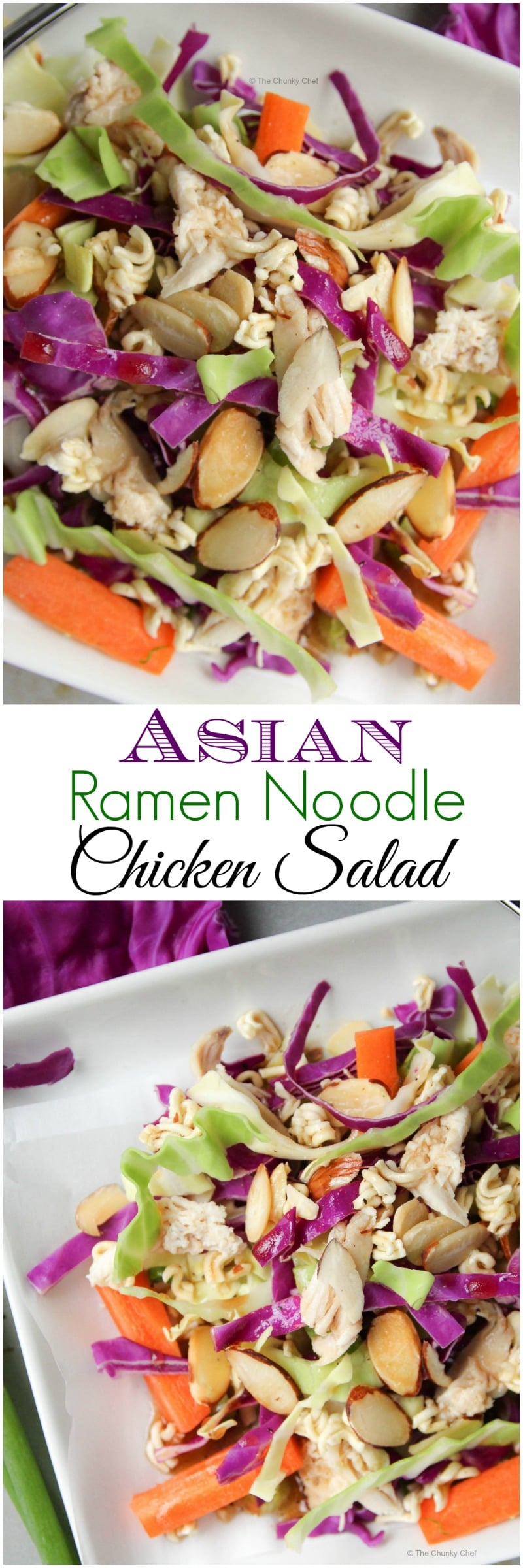 The classic ramen noodle salad gets bumped up to dinner status with the addition of juicy chicken