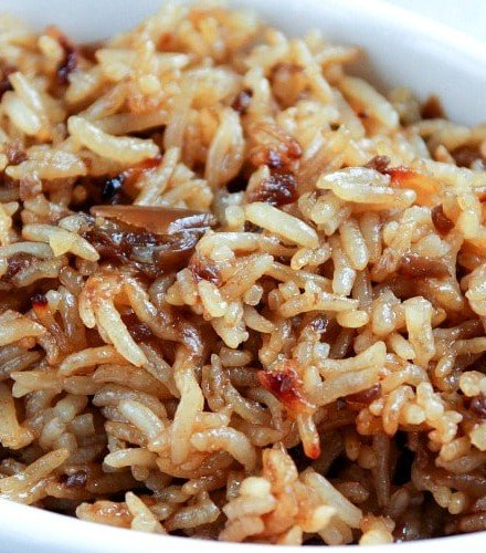 Stick of Butter Rice | Just 4 simple, pantry staple ingredients make up with rice side dish that will blow your mind! Kids and adults alike will be begging you to make it again! | http://thechunkychef.com