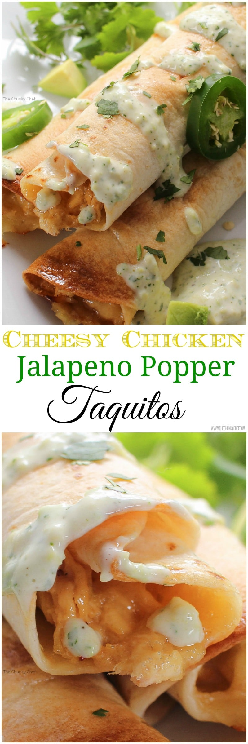 ... jalapeno popper mixed with chicken and rolled up into crispy baked