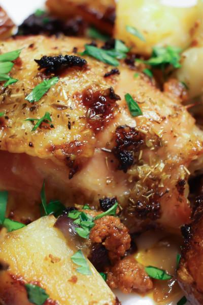 Spanish Chicken and Chorizo Bake