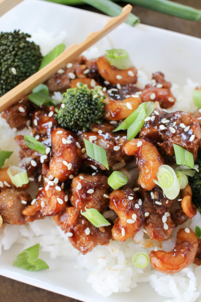 Take-out Style Spicy Cashew Chicken