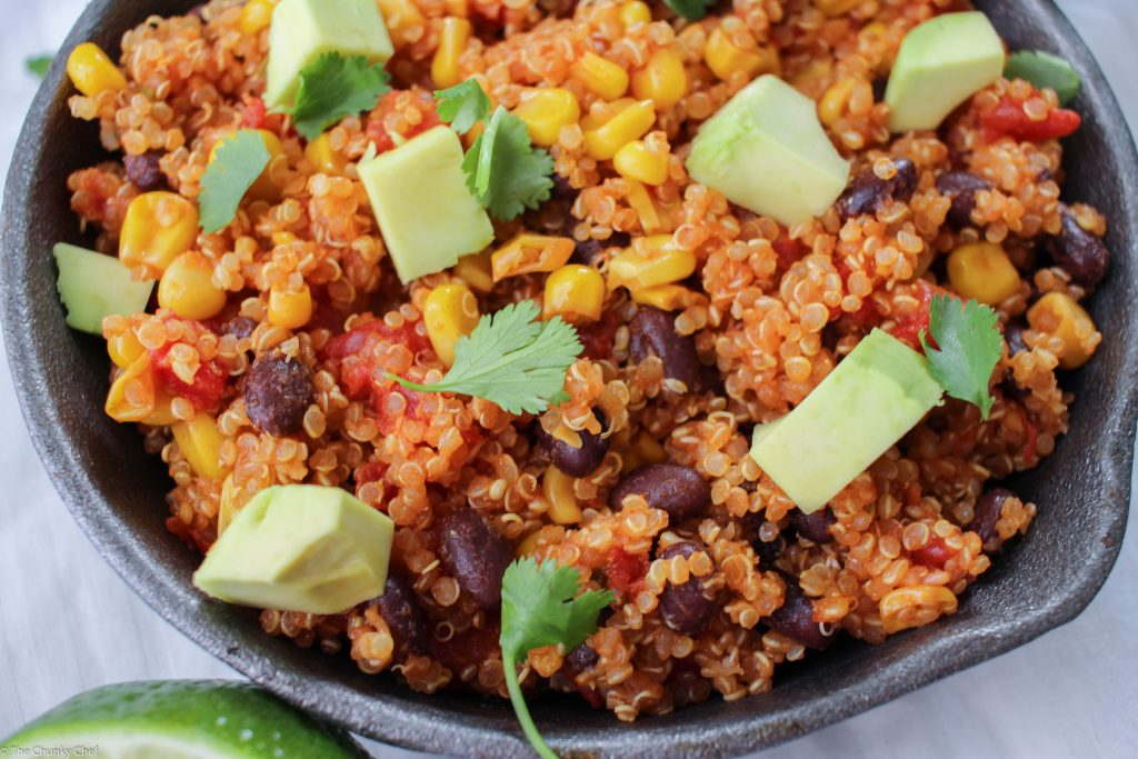 One Pan Mexican Quinoa Skillet - How would you like to have a simple, yet incredibly flavorful vegetarian dish that will more than satisfy you... all cooked in one pan?  Easy cleanup!
