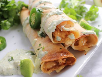 Cheesy Chicken Jalapeno Popper Taquitos