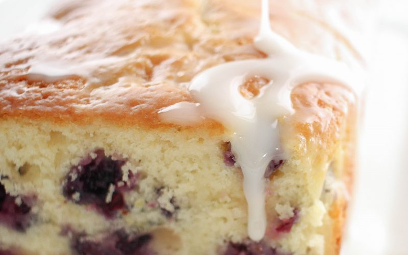 Lemon Blueberry Bread with Lemon Cream Cheese Glaze