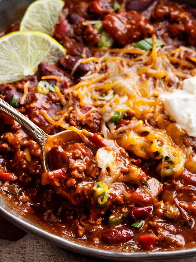 Spoonful of instant pot chili