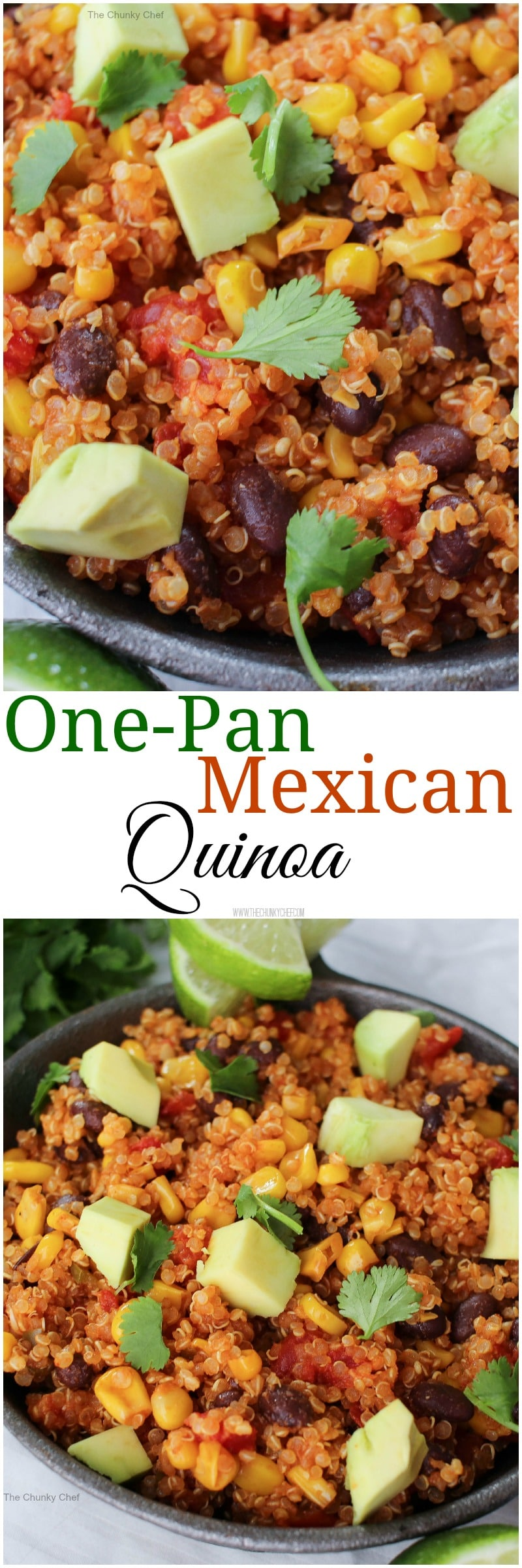 One Pan Mexican Quinoa Skillet | The Chunky Chef