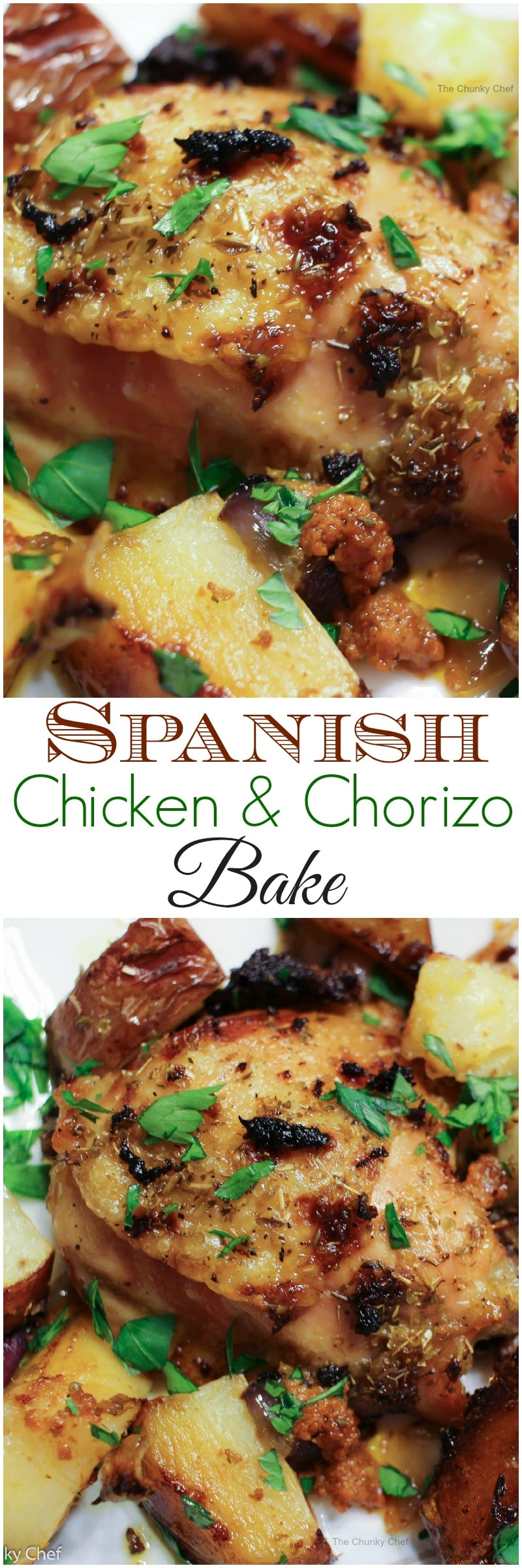 Spanish Chicken - A simple and delicious way to roast chicken... this Spanish chicken is packed with the flavors of chorizo, potatoes, onion and oranges