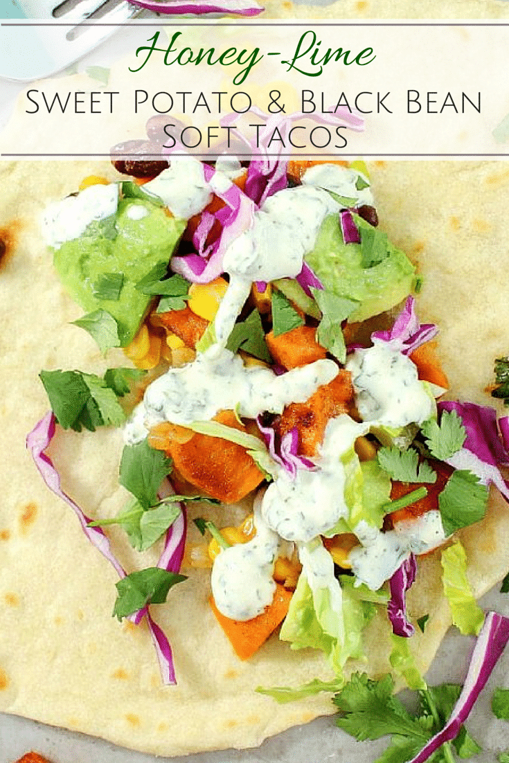 An absolutely delicious vegetarian sweet potato soft taco that even meat-eaters will LOVE!