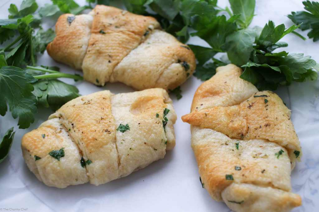 Garlic and Herb Cheese Stuffed Crescent Rolls