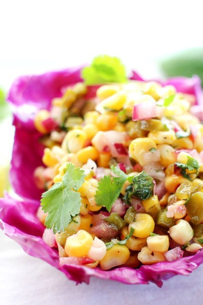 Roasted Corn and Poblano Salsa
