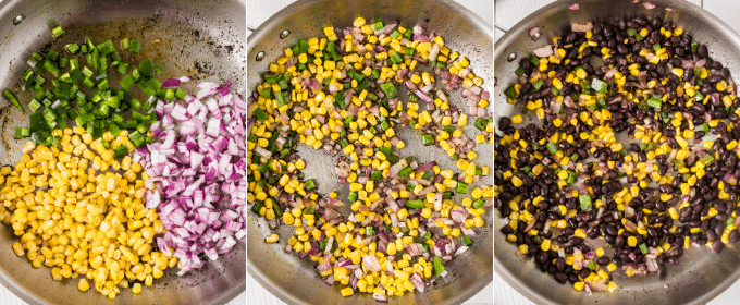 how to make the corn salsa