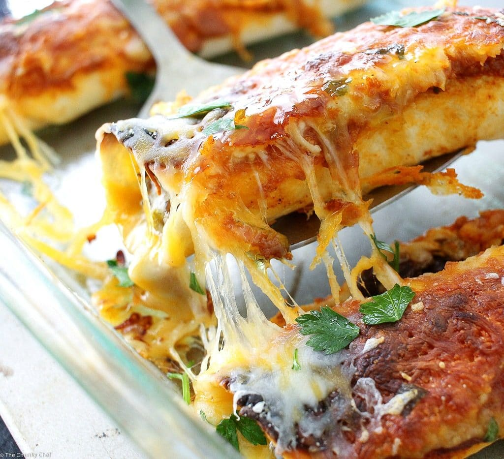 Beef Enchiladas with Homemade Enchilada Sauce - The Chunky ...