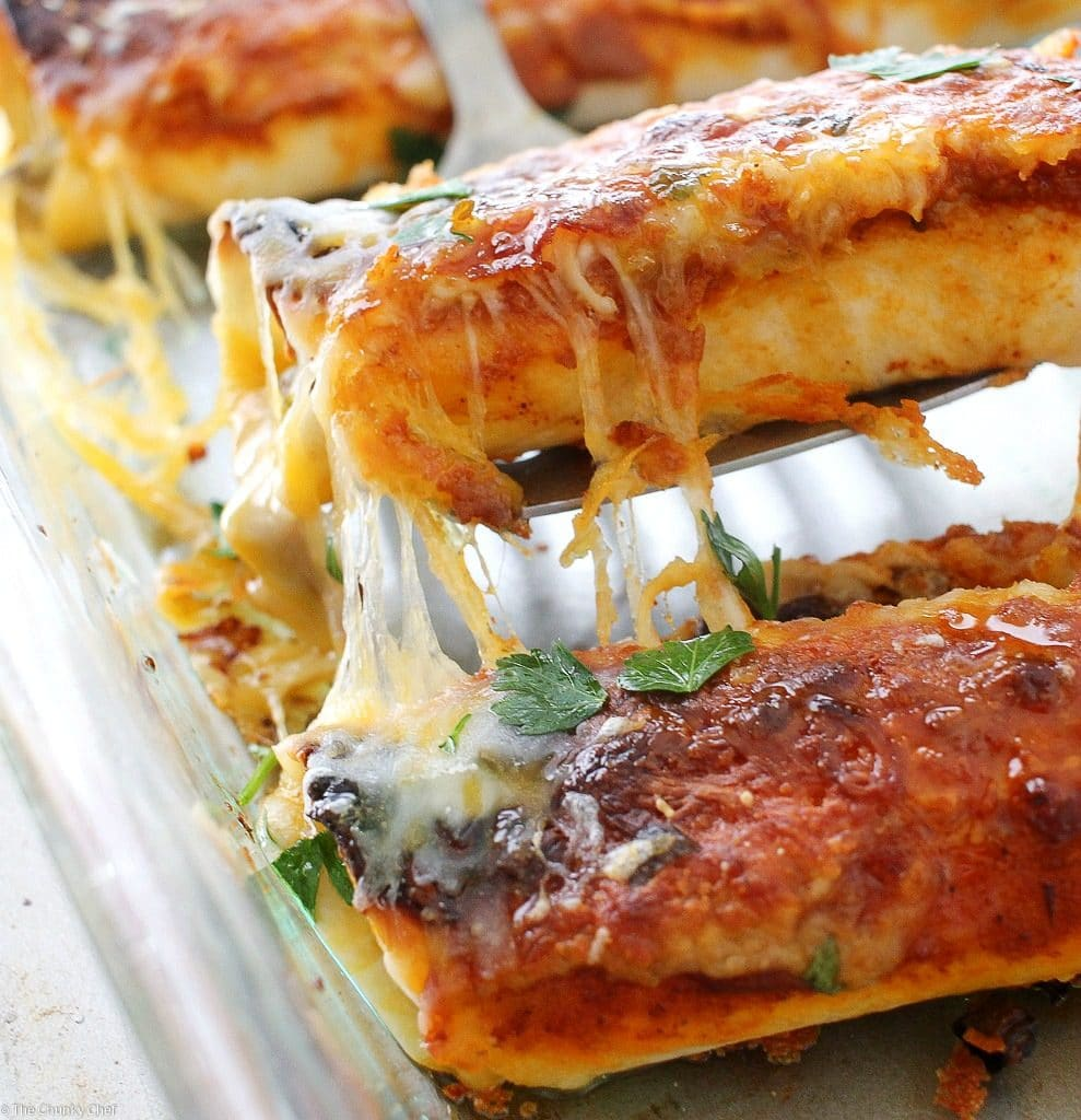 Garlic Beef Enchiladas Recipe: Beef Enchiladas With Homemade Enchilada Sauce
