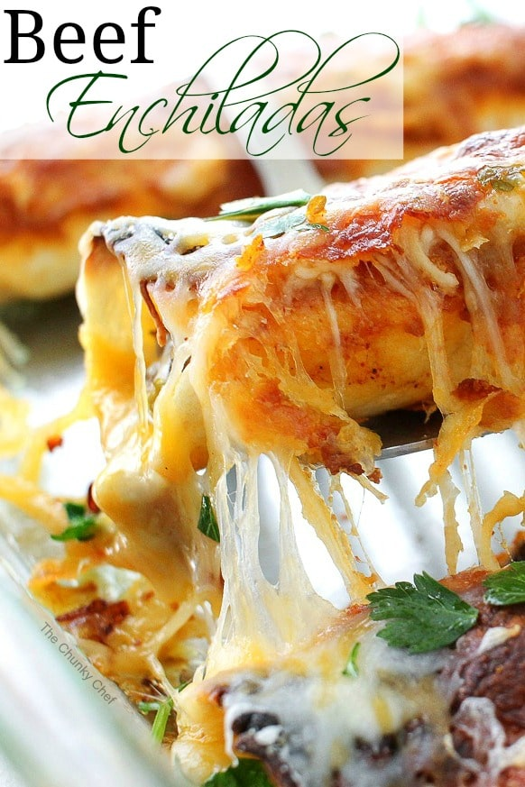 Beef Enchiladas With Homemade Enchilada Sauce The Chunky