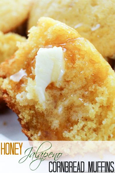 Honey Jalapeno Cornbread Muffins