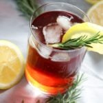 Lemon and Rosemary Sweet Iced Tea