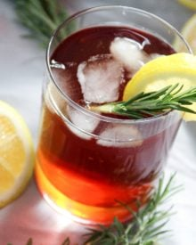 The classic sweet iced tea gets a refreshing twist from the addition of a lemon and rosemary simple syrup. Prepare to drink your new favorite tea!