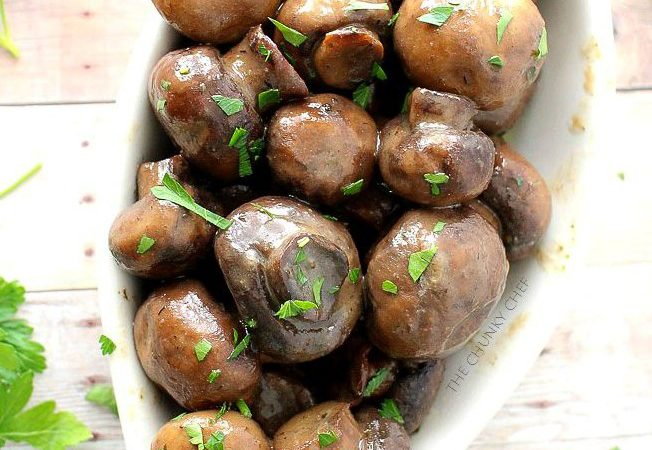 Three ingredients is all you need to make the most delicious and flavorful mushrooms! Just toss them in a slow cooker and let it do the work for you!