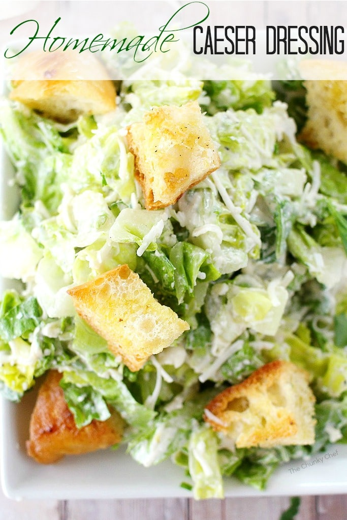 Forget about bottled salad dressing, this simple homemade caesar salad ...