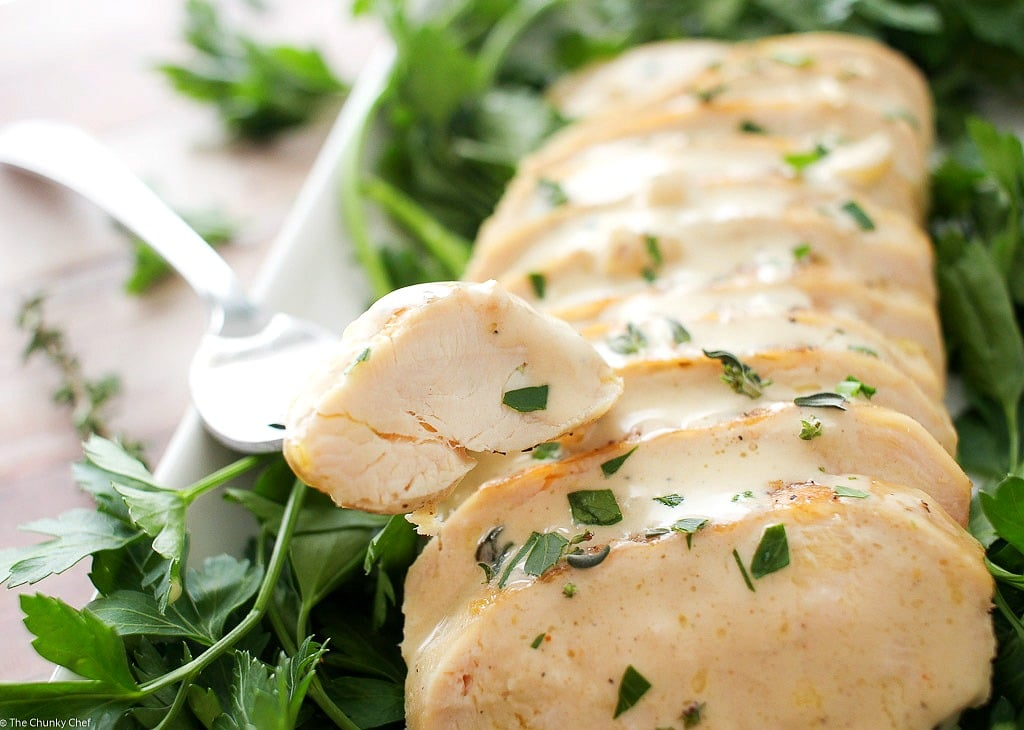 Pan Seared Chicken with a Creamy Mustard Sauce - The Chunky Chef
