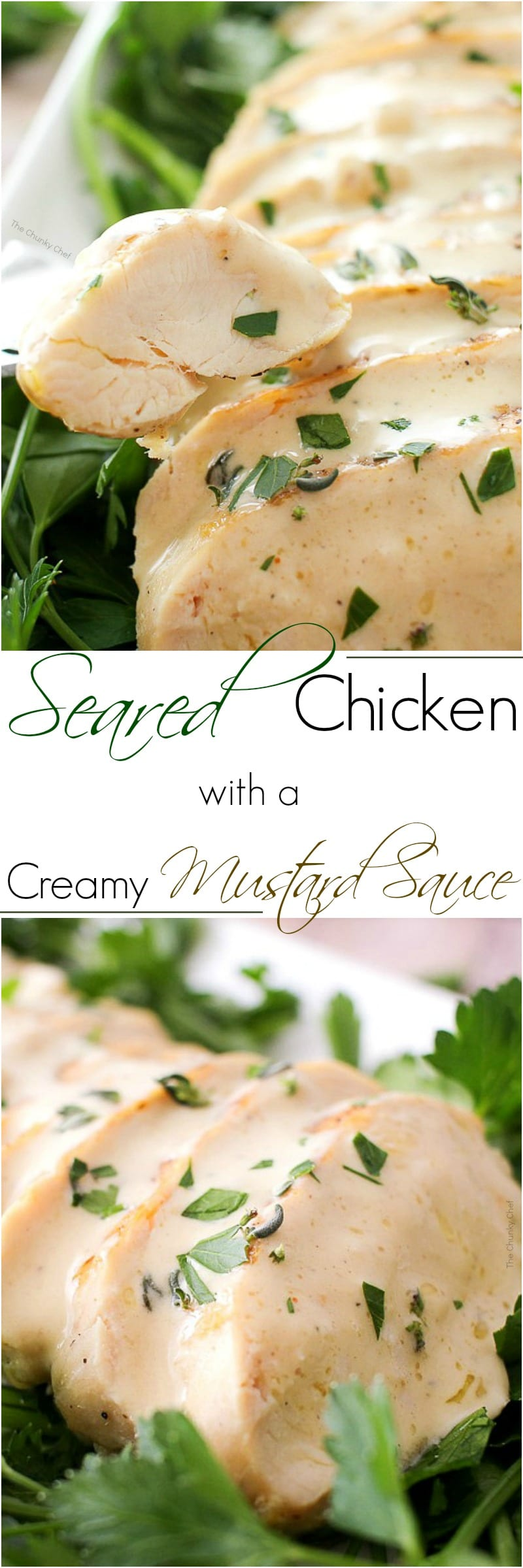 If you're looking for a recipe to switch up your chicken routine, try this pan seared chicken with a creamy mustard sauce!  Simple. Easy. Flavorful!