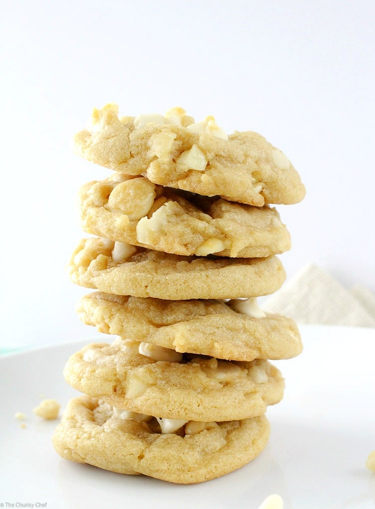 The ultimate white chocolate macadamia nut cookies... baked to soft ...