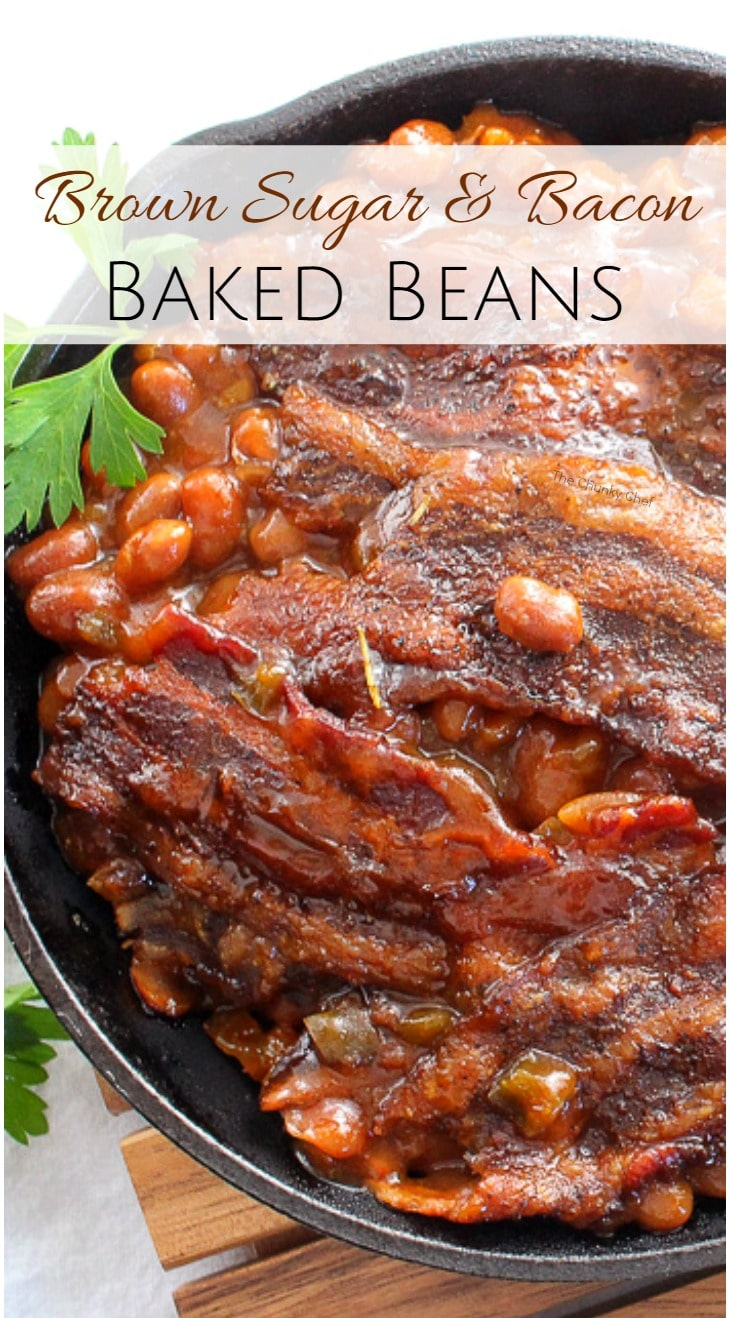 Brown Sugar and Bacon Baked Beans-pin - The Chunky Chef