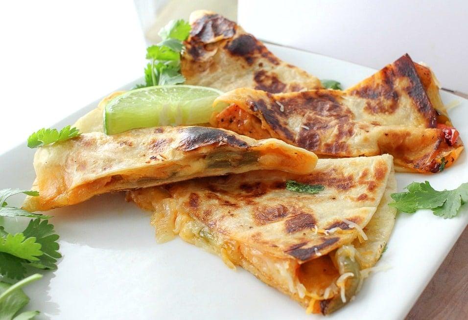 Chicken Fajita Quesadillas Recipe — Dishmaps