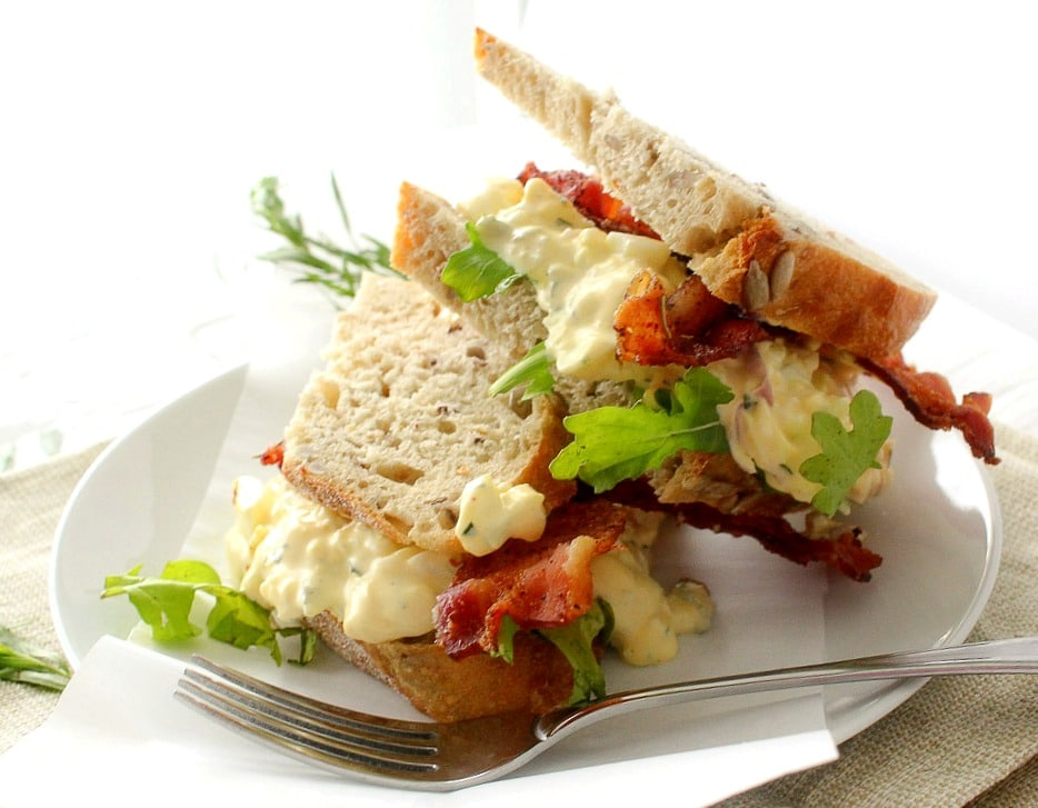 Tarragon and Shallot Egg Salad - The Chunky Chef