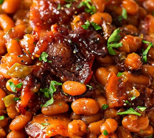 Easy Baked Beans Perfect Potluck Recipe The Chunky Chef