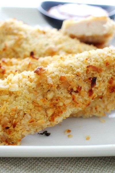 Coconut and Cashew Crusted Chicken Tenders