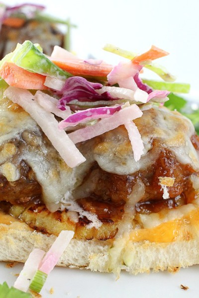 Hawaiian Meatball Sliders with a Jicama Slaw