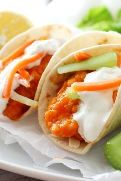 Mini Buffalo Chicken Tacos